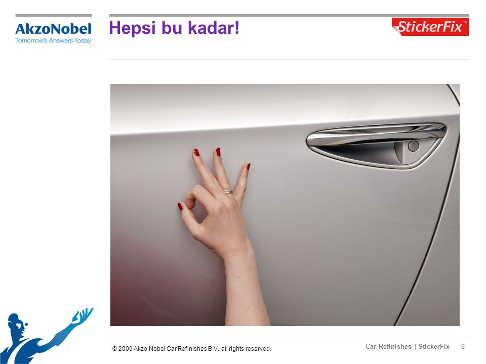 Car Refinishes | StickerFix6 Hepsi bu kadar. © 2009 Akzo Nobel Car Refinishes B.V.