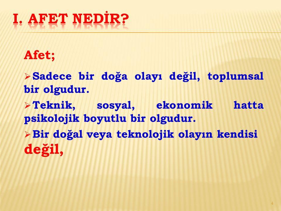 c) Türk Kızılayı tarafından hazırlanan Toplum Liderlerini Teşkilatlandırma Projesi Afet Zararlarını Azaltma Programı (2007-2015) çerçevesinde eğitimler devam etmektedir.