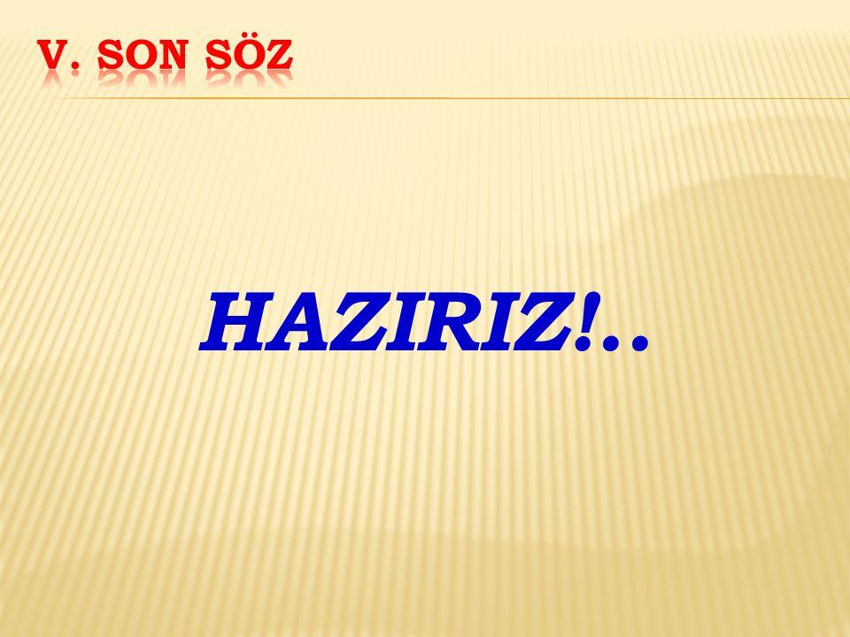 HAZIRIZ!..