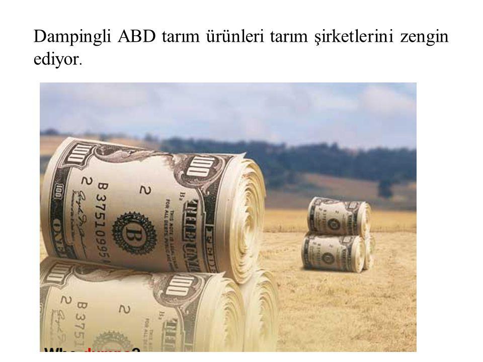 Dampingli ABD tarım ürünleri tarım şirketlerini zengin ediyor.
