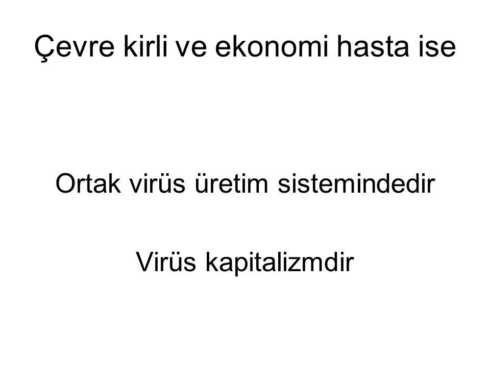 Çevre kirli ve ekonomi hasta ise Ortak virüs üretim sistemindedir Virüs kapitalizmdir