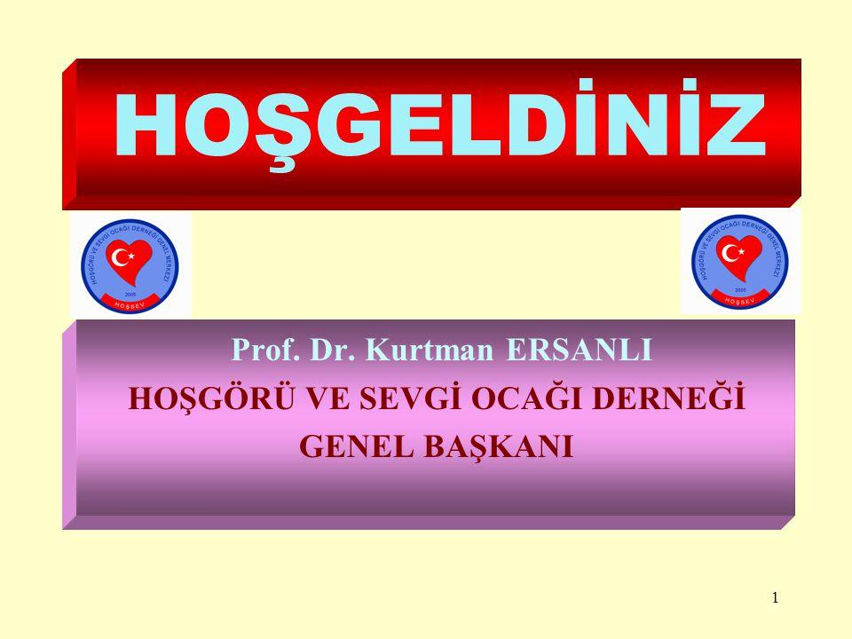 1 HOŞGELDİNİZ Prof. Dr. Kurtman ERSANLI HOŞGÖRÜ VE SEVGİ OCAĞI DERNEĞİ GENEL BAŞKANI