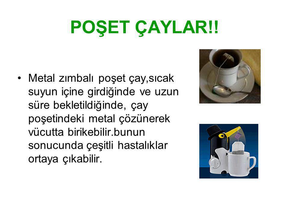 Gebe ve emziklilerin gereksiz kafein alımından özellikle kaçınmaları önerilmektedir.