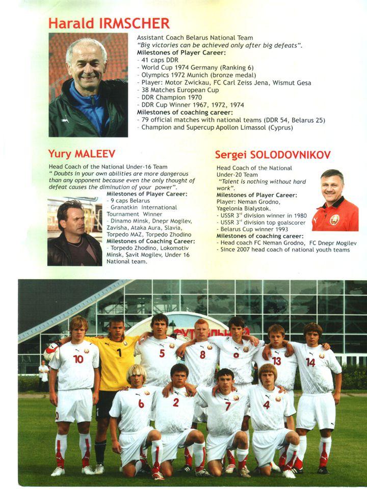 Hazırlayanlar: 1-Harald Irmscher :Belarus A-Milli Takım Yardımcı Antrenörü.