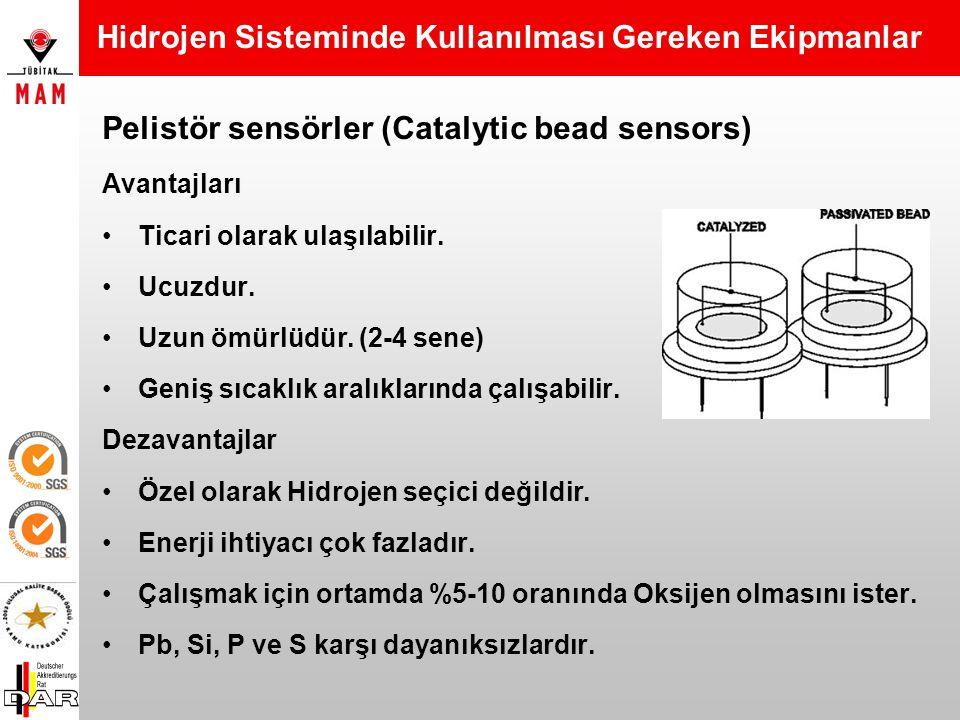 Pelistör sensörler (Catalytic bead sensors) Çalışma Prensibi 2 eşleştirilmiş katalitik pelistörden oluşur.