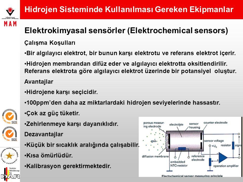 Yarı-iletken sensörler (Semiconductor sensors) Çalışma Prensibi Metal oksitler dirençlerindeki değişikliklerle gazları ölçerler. Avantajları Ticari ol