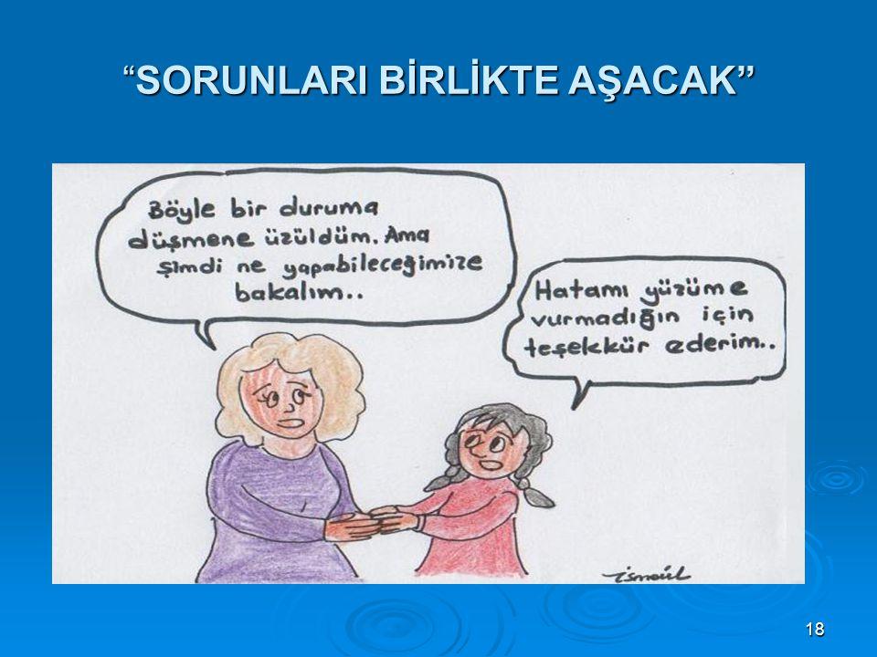 """18 """"SORUNLARI BİRLİKTE AŞACAK"""""""