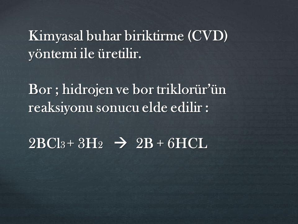 Kimyasal buhar biriktirme (CVD) yöntemi ile üretilir.