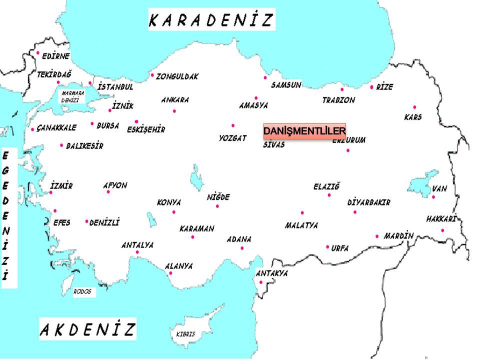 DANİŞMENTLİLER Danişmentliler, Selçuklu komutanlarından Danişment Ahmet Gazi tarafından Orta Anadolu'da kuruldu.