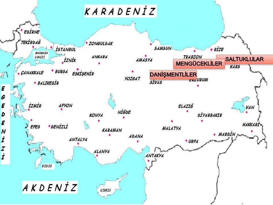 MENGÜCEKLİLER Mengücekliler, Selçuklu Sultanı Alp Arslan'ın komutanlarından Mengücek Gazi Mustafa tarafından kurulmuştur.