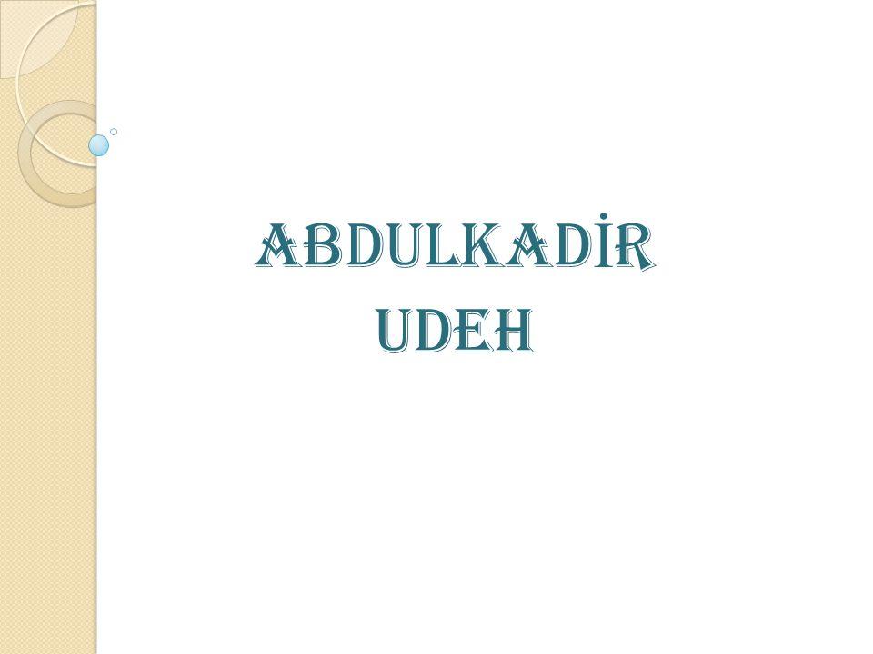 Zulüm Karşısında Tarafsız Olamam Abdulkadir Udeh in meslek hayatındaki cesaretine diğer bir örnek de onun açıkça ben tarafsız değilim demesiydi Zulüm Karşısında Tarafsız Olamam Abdulkadir Udeh in meslek hayatındaki cesaretine diğer bir örnek de onun açıkça ben tarafsız değilim demesiydi.