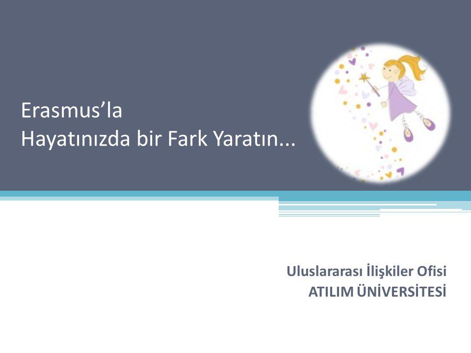 Erasmus'la Hayatınızda bir Fark Yaratın... Uluslararası İlişkiler Ofisi ATILIM ÜNİVERSİTESİ