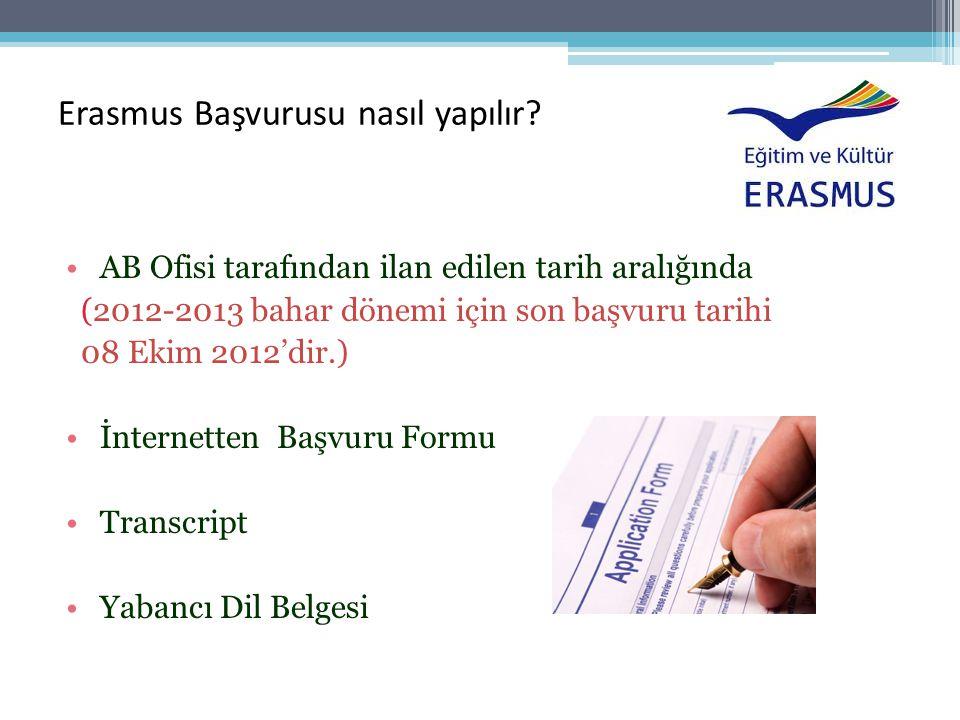 Erasmus Başvurusu nasıl yapılır.