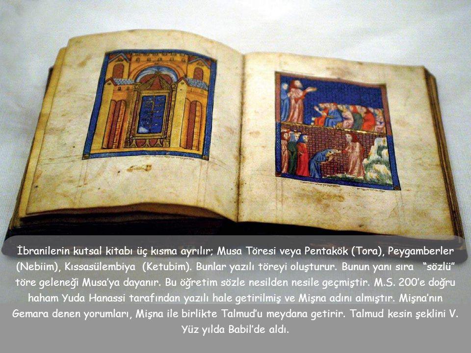 Yahudi dininin kurucusu İbrahim'dir.. Kutsal Kitap'a göre, Tanrı, İbrahim peygamberi çocuklarına ve gelecek kuşaklarına Tanrı'ya itaati öğretmesi için