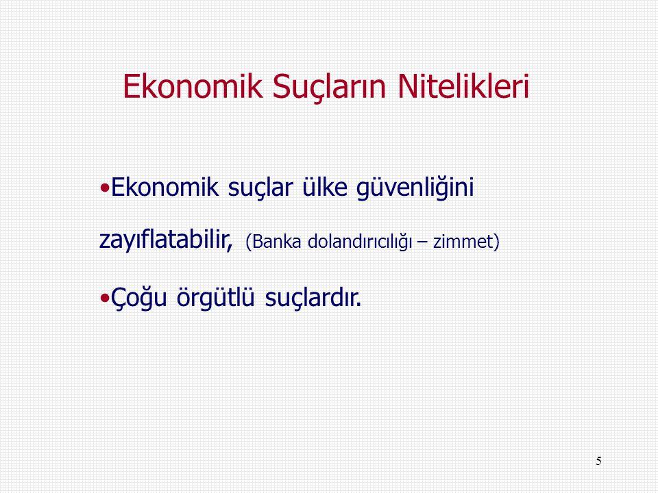 6 Milli Gelir – Kayıtdışı Ekonomi – Suç Ekonomisi İlişkisi