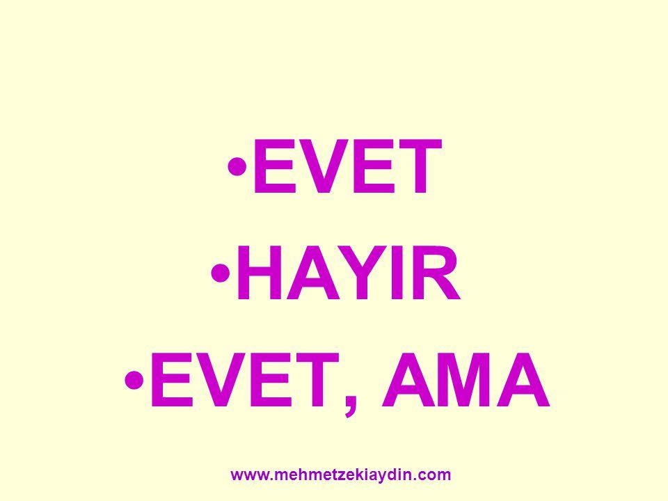 EVET HAYIR EVET, AMA www.mehmetzekiaydin.com
