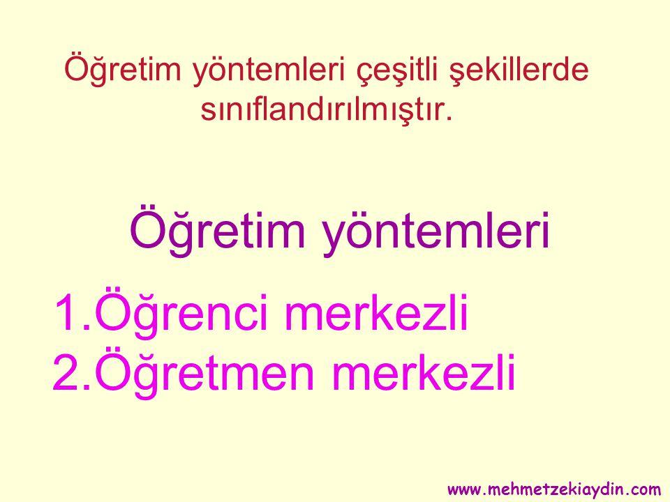 Öğretme Yolları www.mehmetzekiaydin.com
