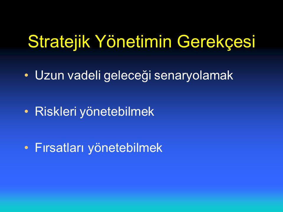 Strateji Uygulaması Strateji kurumun amaç ve misyonu ile uyuşuyor mu.