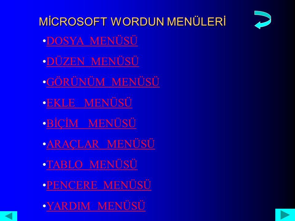 YARDIM MENÜSÜ Office 2000, büyük bir pazara hitap eden bir yazılım programı için şimdiye dek oluşturulmuş en kapsamlı yardım sistemi ile gelmiştir.Yardım sistemi birbirinden bağımsız üç bileşenden oluşmaktadır.