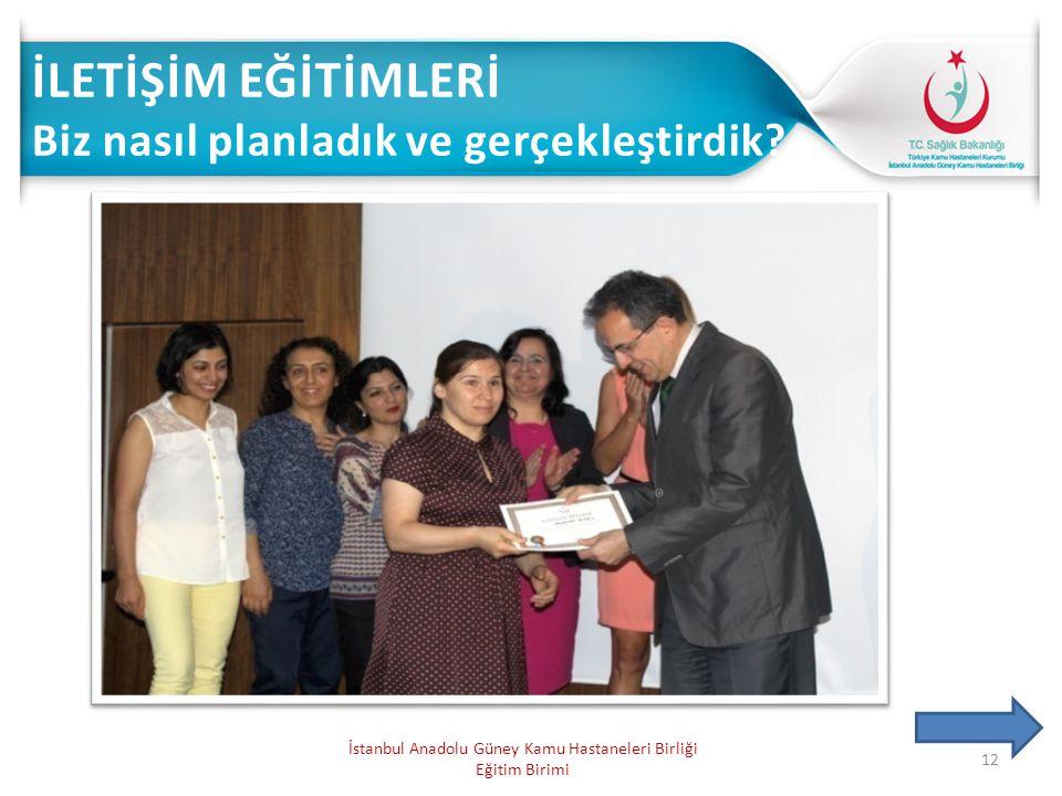 12 İstanbul Anadolu Güney Kamu Hastaneleri Birliği Eğitim Birimi
