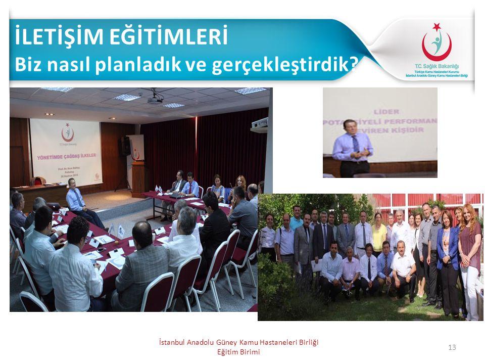 13 İstanbul Anadolu Güney Kamu Hastaneleri Birliği Eğitim Birimi
