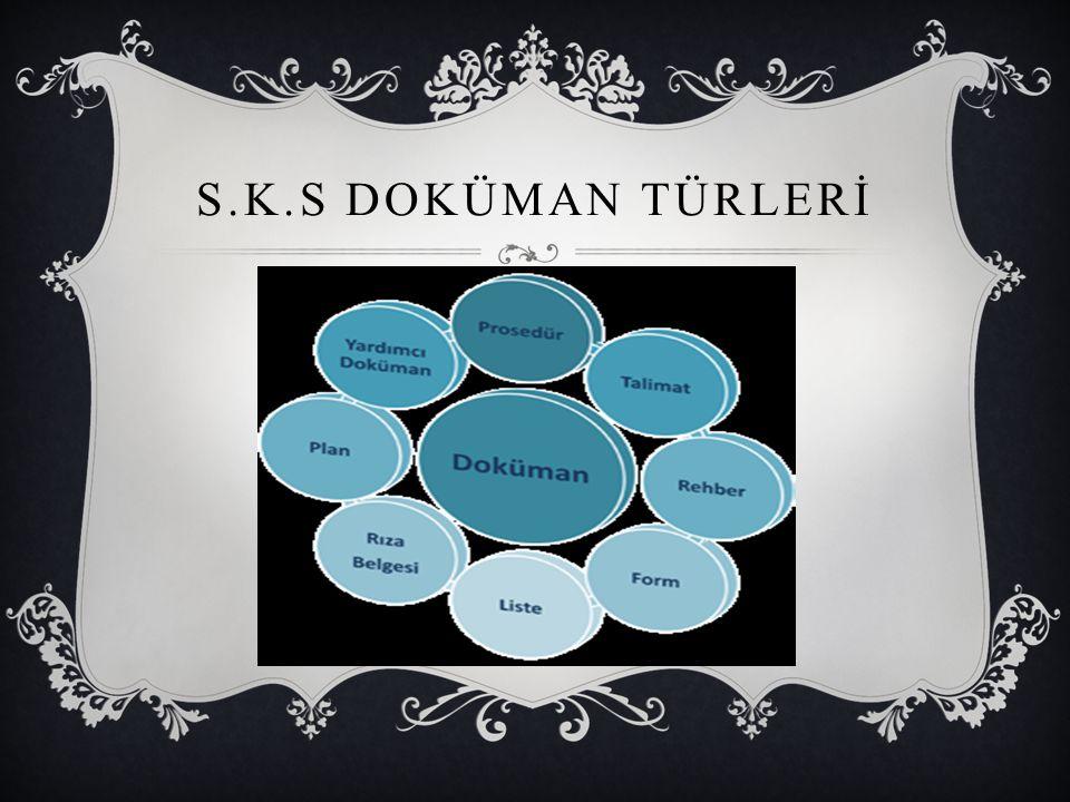 S.K.S DOKÜMAN TÜRLERİ