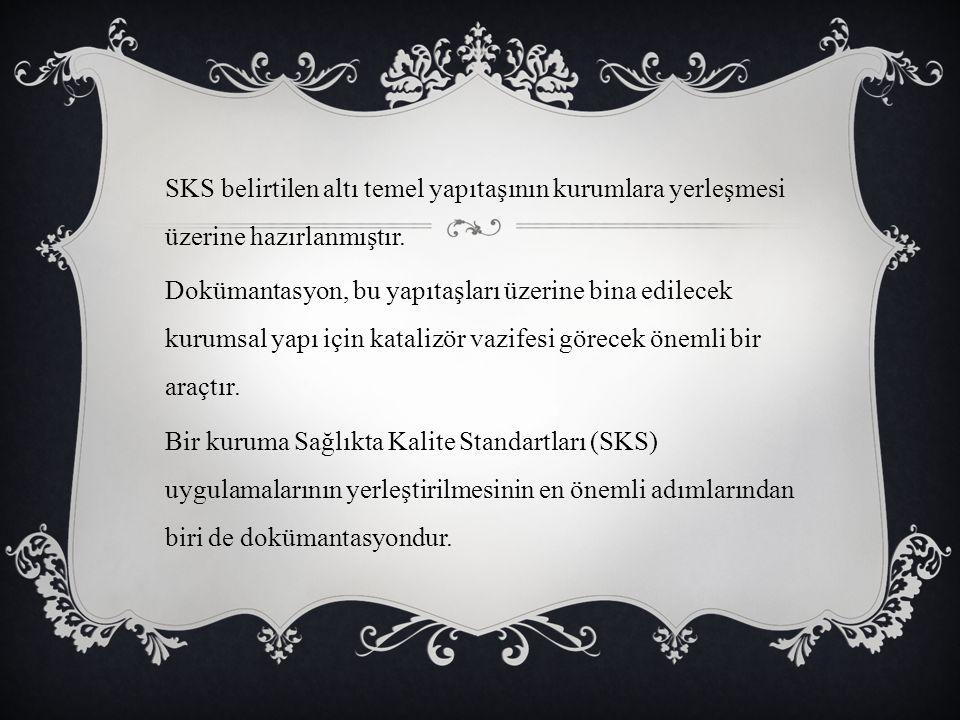 SKS belirtilen altı temel yapıtaşının kurumlara yerleşmesi üzerine hazırlanmıştır. Dokümantasyon, bu yapıtaşları üzerine bina edilecek kurumsal yapı i