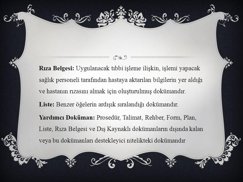 DOKÜMANLAR NASIL HAZIRLANMALIDIR.