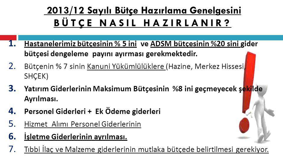 2013/12 Sayılı Bütçe Hazırlama Genelgesini BÜTÇE NASIL HAZIRLANIR.