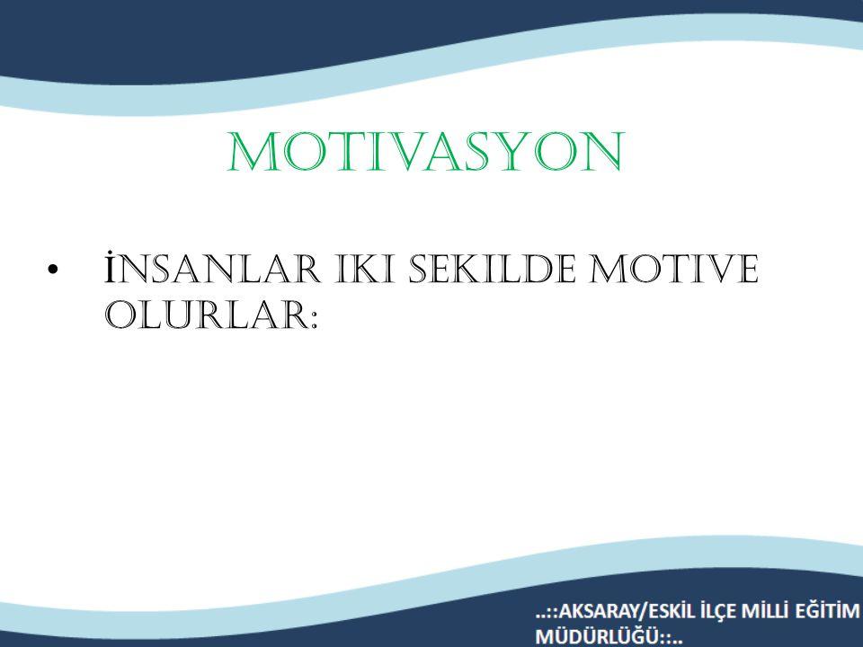 Dersin gereklerini yerine getirmektir motive olmaktan kasıt… Ders size zor ve çekilmez gelse bile…