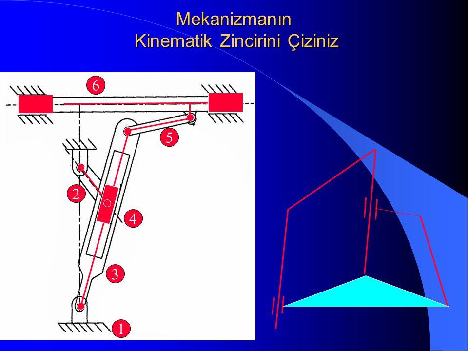 Mekanizmanın Kinematik Zincirini Çiziniz 1 2 3 4 5 6