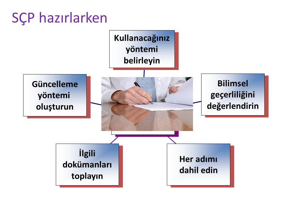 SÇP hazırlarken Güncelleme yöntemi oluşturun Güncelleme yöntemi oluşturun İlgili dokümanları toplayın İlgili dokümanları toplayın Her adımı dahil edin