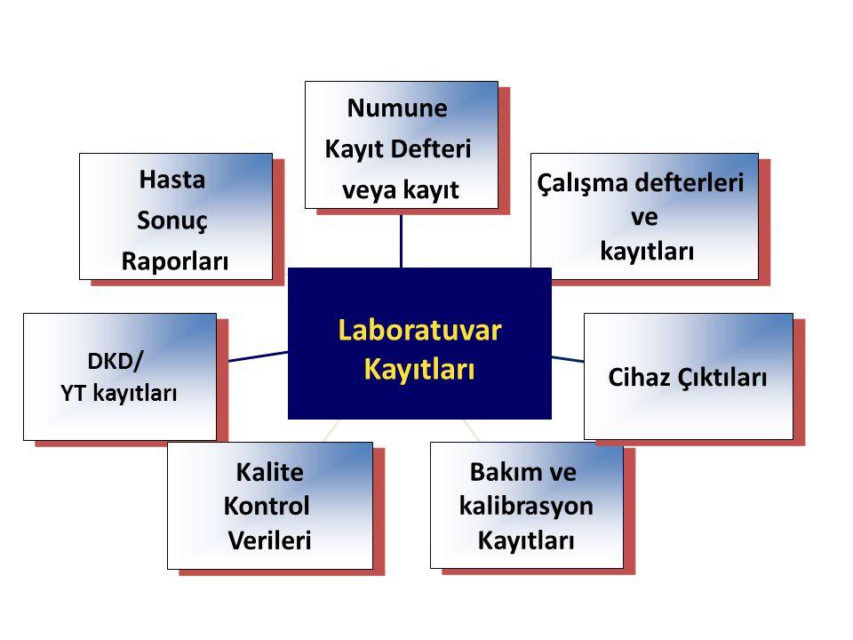 Hasta Sonuç Raporları Hasta Sonuç Raporları DKD/ YT kayıtları DKD/ YT kayıtları Kalite Kontrol Verileri Kalite Kontrol Verileri Bakım ve kalibrasyon K