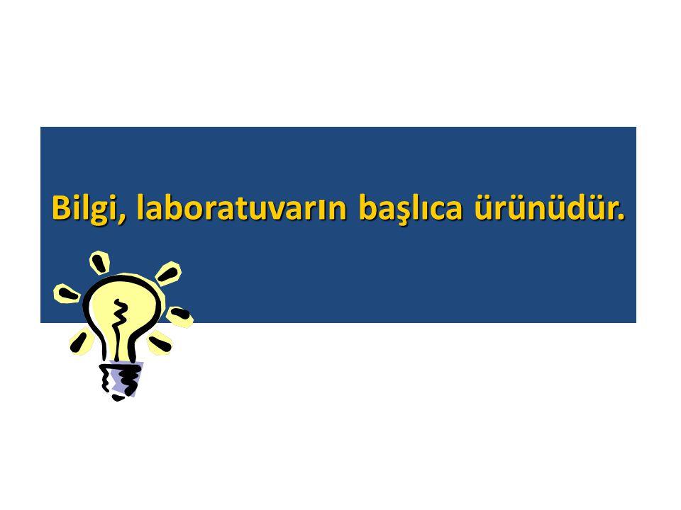 Bilgi, laboratuvar ı n başlıca ürünüdür.