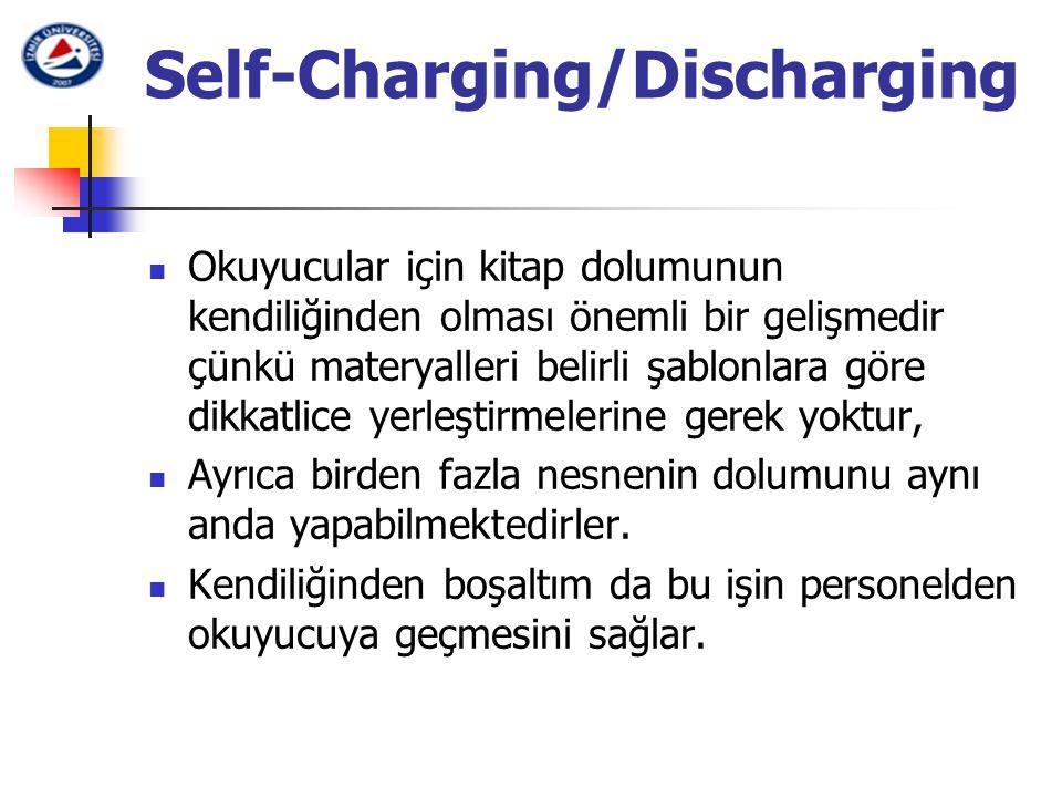 Self-Charging/Discharging Okuyucular için kitap dolumunun kendiliğinden olması önemli bir gelişmedir çünkü materyalleri belirli şablonlara göre dikkat