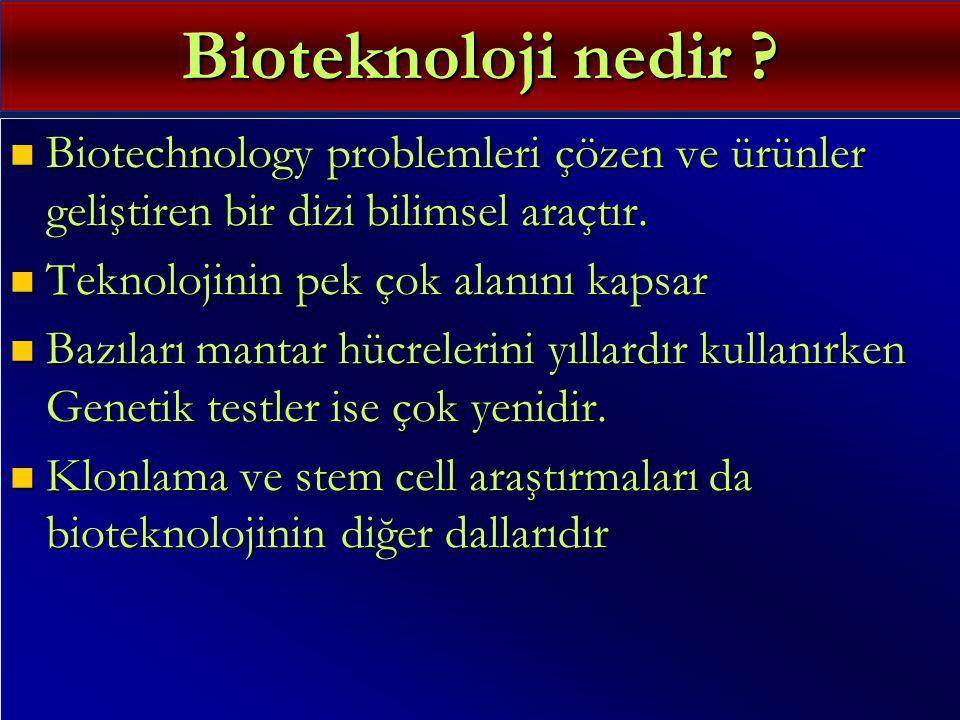 Bioteknoloji nedir .