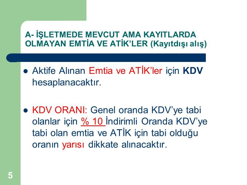 16 ÖRNEK: (T) A.Ş., GVK 42.
