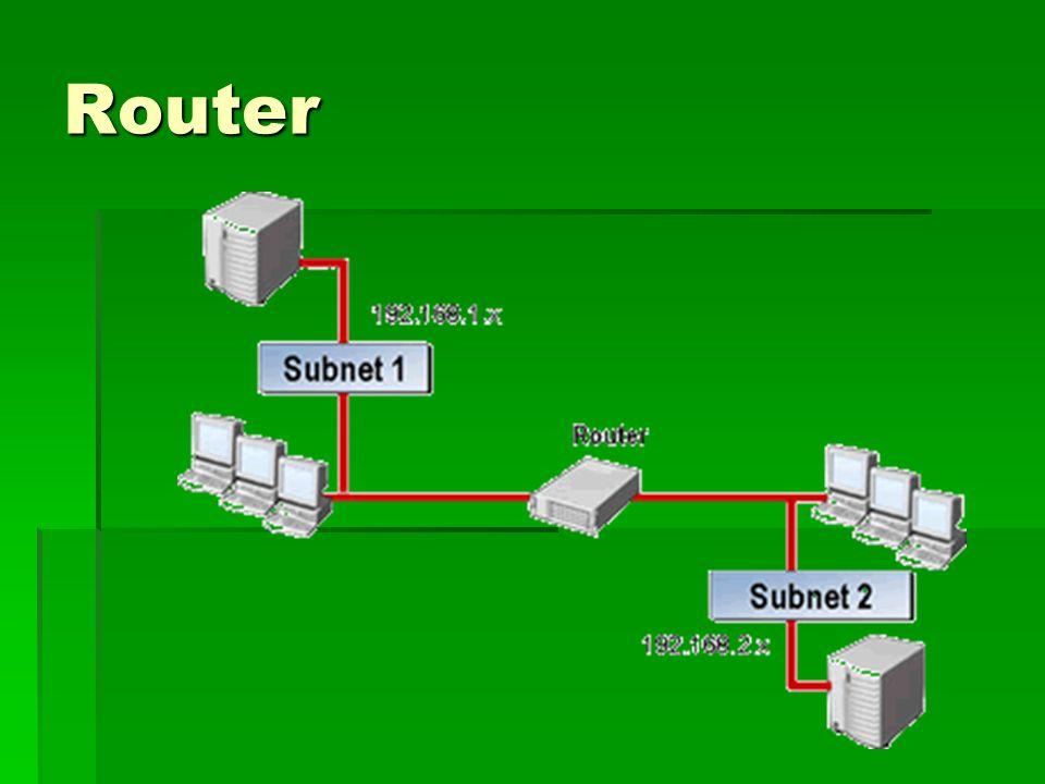  Örneğin şekildeki router büyük bir şirket ağında kullanılıyorsa iki farklı lokasyondaki şirket bilgisayarlarının birbirlerini görmesini sağlayabilir (farklı şehirlerdeki şirket bilgisayarları router üzerinden birbirleriyle haberleşebilir, tek bir merkezdeki programı online olarak bütün şubelerin kullanımı da bu şekilde olmaktadır.) Peki aklınıza şöyle bir soru gelebilir.