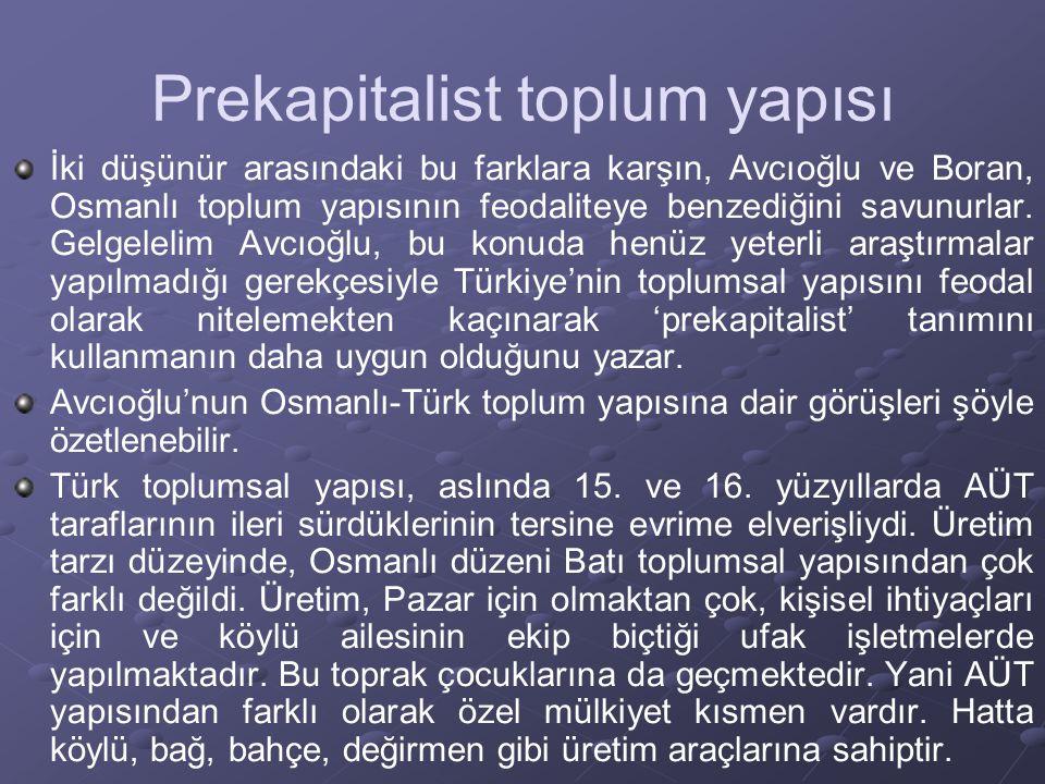 Patrimonyal Bürokrasi Mardin, şöyle der: Padişahın, şehirlerde uyruklarının babası olmak için duyduğu zorunluluk, lonca zanaatları karşısında ticareti elverişsiz bir duruma sokuyordu.