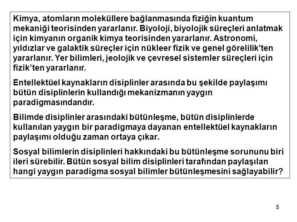 16 1.PARADİGMA BÜTÜNLEŞMESİ 2. TOPLUMSAL MODEL 3.