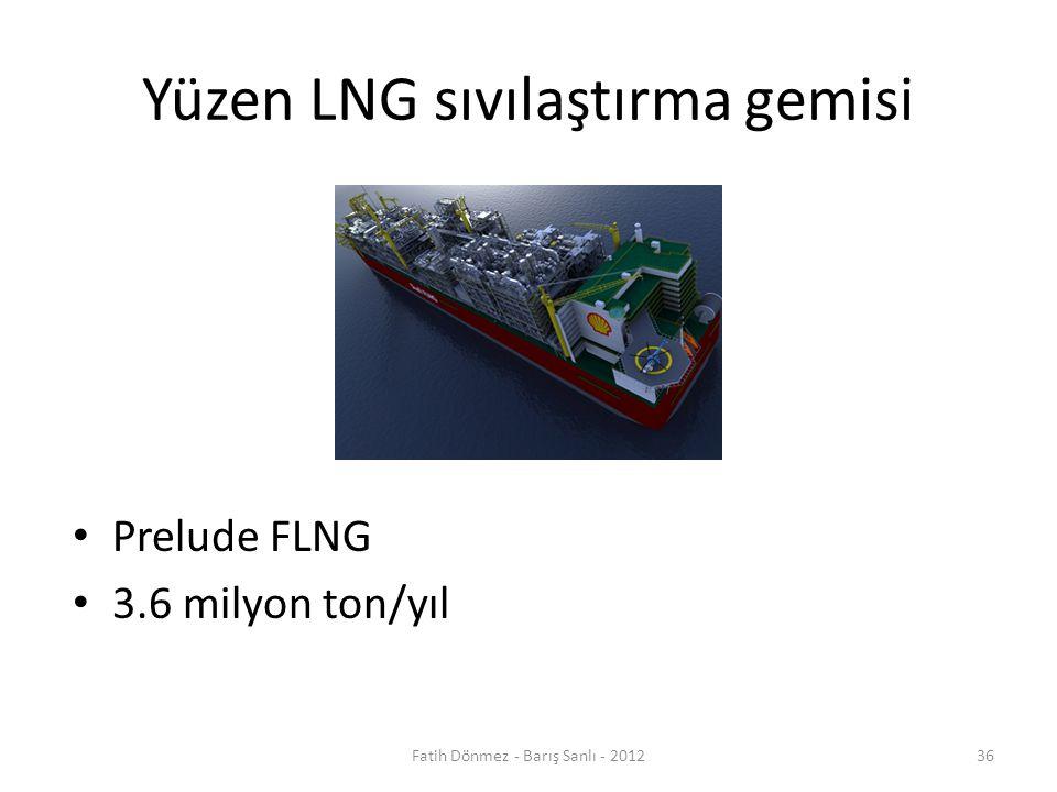 Yüzen LNG sıvılaştırma gemisi Prelude FLNG 3.6 milyon ton/yıl Fatih Dönmez - Barış Sanlı - 201236