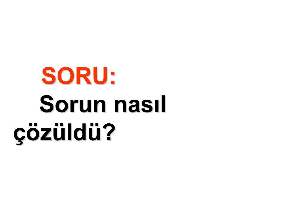 SORU: Sorun nasıl çözüldü?