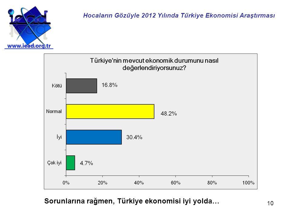 10 Sorunlarına rağmen, Türkiye ekonomisi iyi yolda… Hocaların Gözüyle 2012 Yılında Türkiye Ekonomisi Araştırması
