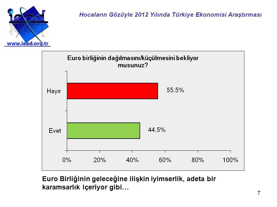 18 İktisat hocalarının çoğunluğu faizlerde bir artış bekliyor… Hocaların Gözüyle 2012 Yılında Türkiye Ekonomisi Araştırması