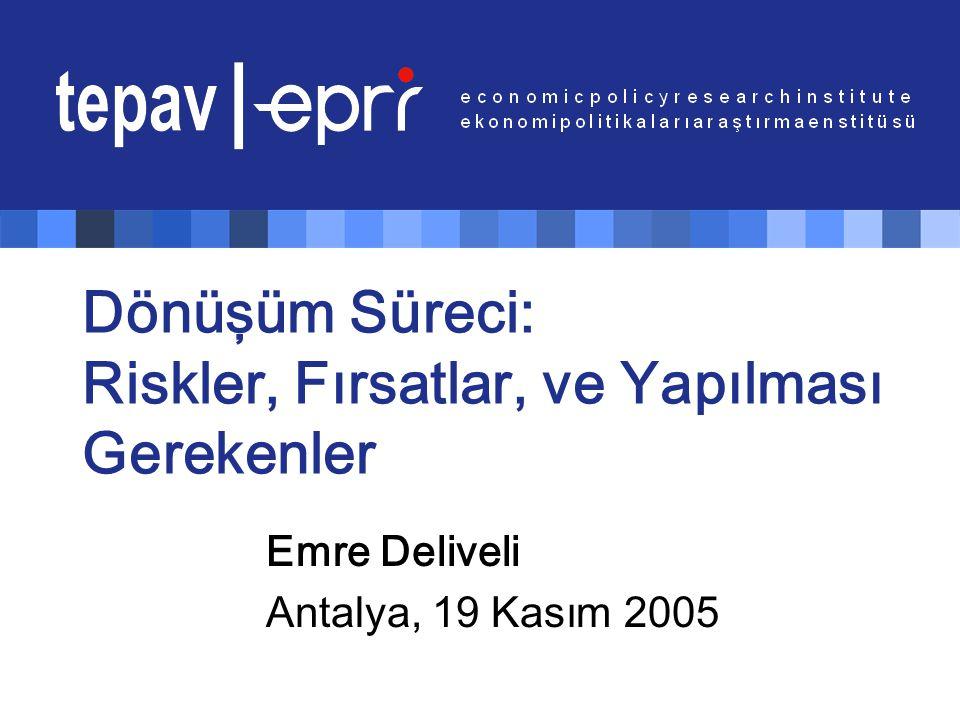 Dönüşüm Süreci: Riskler, Fırsatlar, ve Yapılması Gerekenler Emre Deliveli Antalya, 19 Kasım 2005