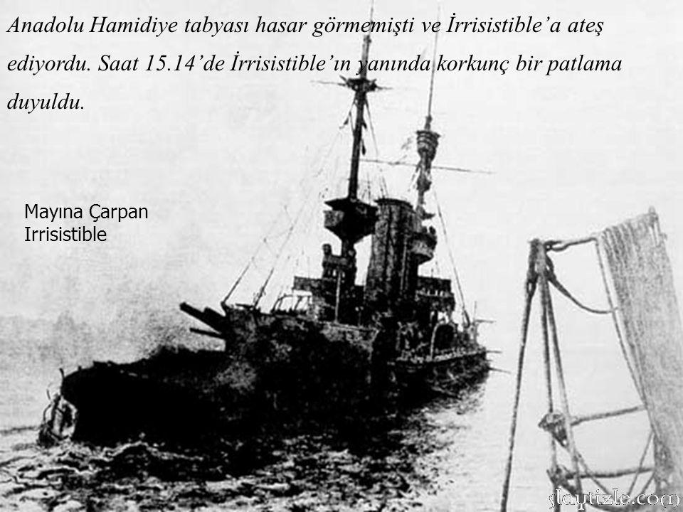2.Tümen İngiliz gemileri, 3. Tümenin yerini aldığında bu manzara ile karşılaşmıştı.