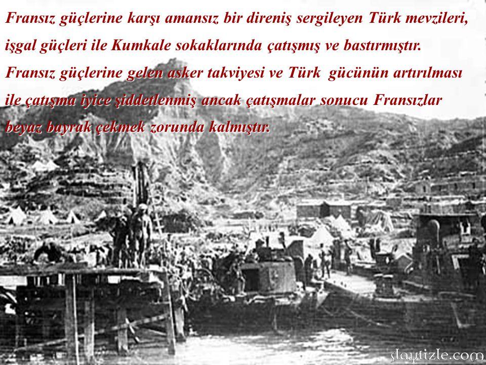 Saat 04.30'da Fransız filosu Kumkale önlerinde savaş düzeni almıştı.