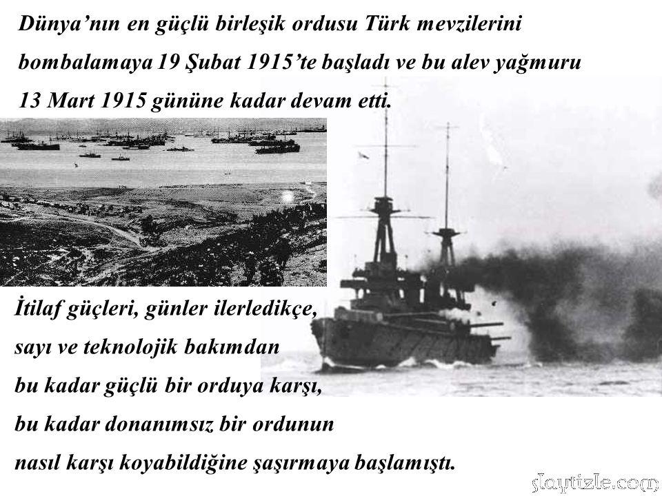 25 Nisan 1915 Kara Muharebeleri…