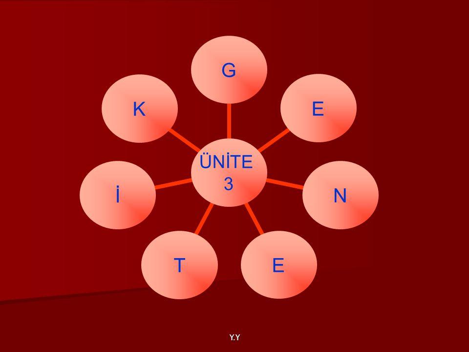 Y.Y ÜNİTE 3 GENETİK