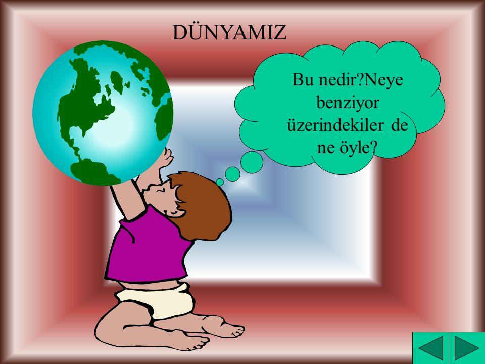 KONULAR : A)DÜNYAMIZ 1)Dünyamızın Şekli 2)Dünya Üzerinde Neler Var.
